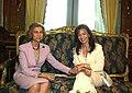 Cristina Fernández de Kirchner junto a la Reina Sofía en Casa Rosada.jpg