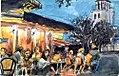 Croquis aquarellé- terrasse d'un café à Paris (7285040350).jpg