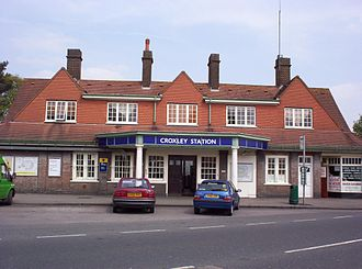 Metro-land - Croxley Green (now Croxley) station (C. W. Clark, 1925)