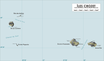 Map of the Crozet Islands