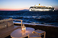 Cruise ship in the coast waters of Mykonos island. Cyclades, Agean Sea, Greece-2.jpg