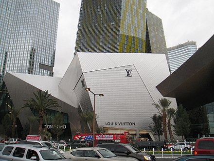 A Louis Vuitton store in Las Vegas. Crystals - Exterior East - 2010-03-06.JPG
