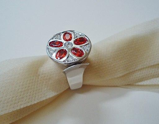 Cubic zirconia ring 01