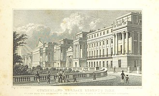 Oscar Browning - Cumberland terrace as it appeared at the time of Browning's birth in 1837