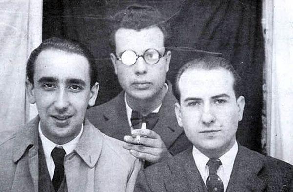 Ficheiro:Carballo Calero, dunha foto con Cunqueiro e Fernández del ...