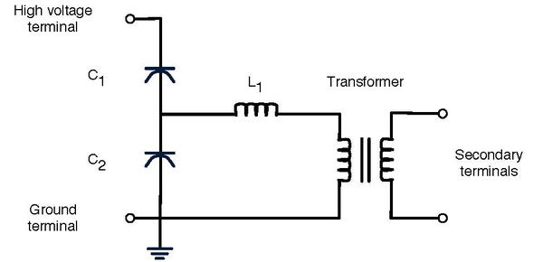 instrument transformer wikiwand simplified circuit diagram of a cvt