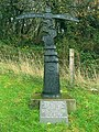 Cycle route waymarker, Tumble - geograph.org.uk - 285103.jpg