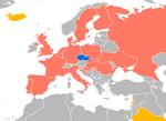Czech Airlines destinations 2017.png