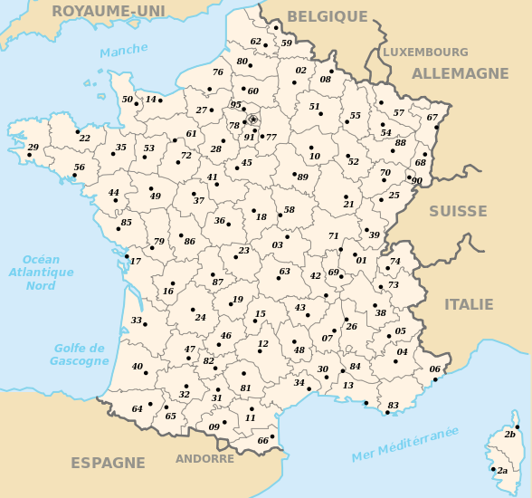 Départements and Regions of France