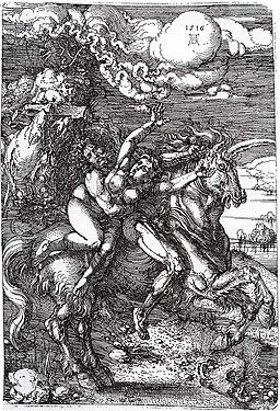 Dürer - Die Entführung auf dem Einhorn