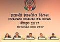 "D.V. Sadananda Gowda chairing the Plenary Session- VIII on ""Leveraging Diaspora Expertise for Knowledge and Innovation"", at the Pravasi Bharatiya Divas (PBD-2017) convention, in Bengaluru, Karnataka.jpg"
