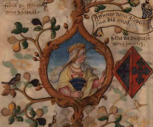 Isabel of Barcelos - Isabel in a 1534 miniature in the Genealogy of D. Manuel Pereira, 3rd Count of Feira