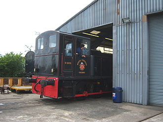 North Tyneside Steam Railway - D2078 at the workshop pit road door.