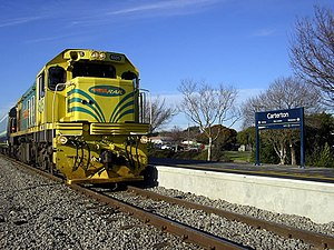 Corn-Cob (livery) - Image: DC4605 at Carterton station with Waiararapa Connection