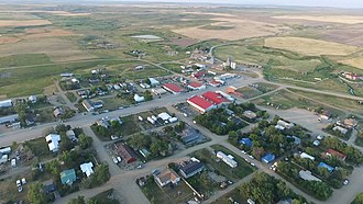 Winifred, Montana - Downtown and Northeast Winifred (June 2015)