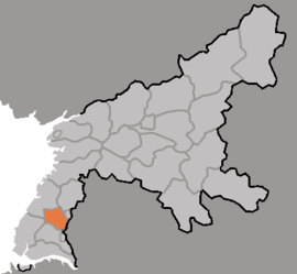 Location of Kangsŏ District