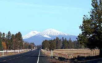 Deschutes County, Oregon - View of the Cascades near La Pine, Oregon.