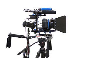 Zacuto (camera accessories) - This rig uses a Zacuto viewfinder