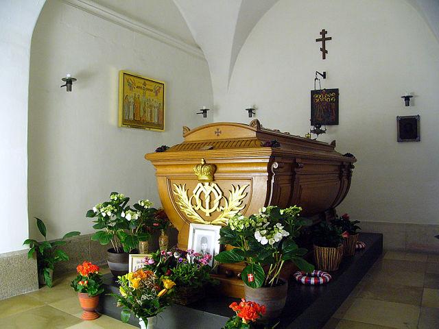 Гроб в соборе в Роскилле