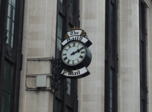 The Daily Mail clock, just off Kensington High...