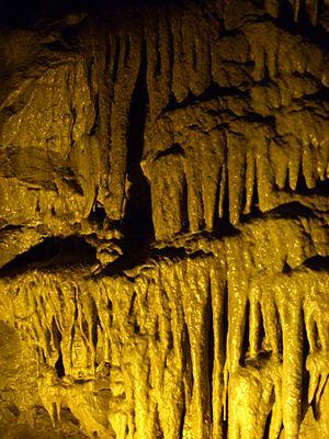 Dan yr Ogof - A cave feature at Dan yr Ogof