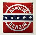 Dapolin Benzin enamel advertising sign.JPG