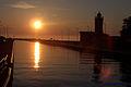 Darłówko zachód słońca latarnia morska MZW 2007 6622.jpg