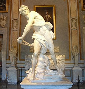 David - Gianlorenzo Bernini 1623 - Galleria Bo...