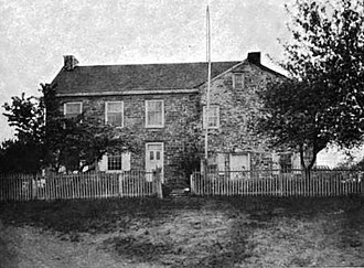 David Rittenhouse - David Rittenhouse's home as it appeared c. 1919. From its lawn, in 1769, Rittenhouse and Franklin observed the transit of Venus.