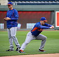 David Wright stretches on -WSMediaDay (22887034832).jpg