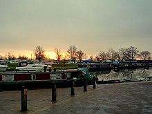 Dageraad bij de rivier de Great Ouse, Ely