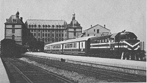 Boğaziçi Express - The Boğaziçi Express waiting to depart Haydarpaşa station in 1968, before electrification of the route.