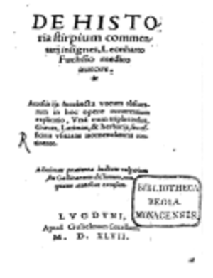 De Historia Stirpium Commentarii Insignes - First edition title page