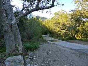 De Luz, California - A view down historic De Luz Murrieta Road.