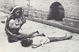 Dead or dying children on a Calcutta street (the Statesman 22 August 1943).jpg