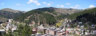 Deadwood, South Dakota - Modern Deadwood viewed from Mount Moriah