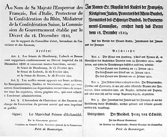 Decree by Louis-Nicolas Davout on Hamburg, Lübeck and Bremen - 18110210.jpg