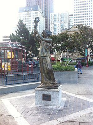 Goddess of Democracy (San Francisco) - The statue in 2013