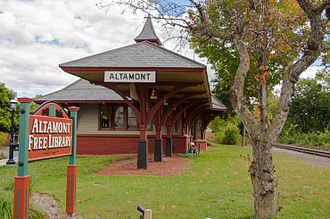 Altamont, New York - The Delaware and Hudson Railroad Passenger Station is listed on the National Register of Historic Places