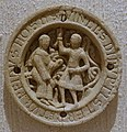 Delilah accusing the freed Samson of mockery, drauhtsman (checkers piece), German, Rhineland, 1100s, bone - Princeton University Art Museum - DSC06747.jpg