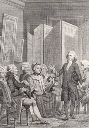 "Salon (gathering) - ""Abbé Delille reciting his poem, La Conversation in the salon of Madame Geoffrin"" from Jacques Delille, ""La Conversation"" (Paris, 1812)"