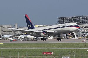 A Delta Air Lines Boeing 767-300ER in 1997-200...