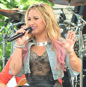 Demi Lovato: Stay Strong - Lovato smiling while performing on Good Morning America in July 2012 as part of their Summer Concert Series.