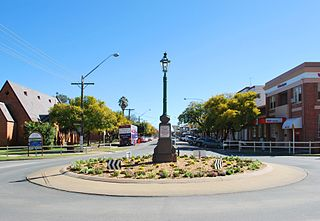 Deniliquin Town in New South Wales, Australia