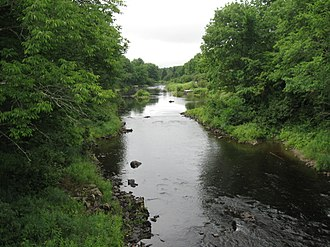 Dennys River - Dennys River from Bunker Hill Road in Dennysville