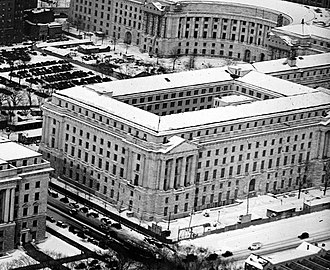 Department of Labor Building - The Department of Labor building with construction nearly complete in 1934