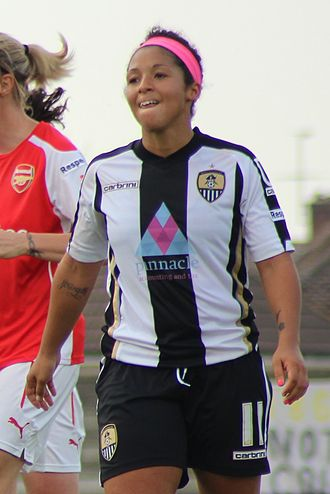 Desiree Scott - Playing for Notts County in 2014