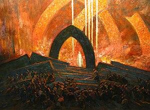 """Panos Aravantinos - Image: Detail from """"Stage Set"""" (1928) Panos Aravantinos"""