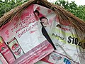 Detail of Hut with Canvas Ads - Koh Paen Island - Kampong Cham - Cambodia (48336131907).jpg