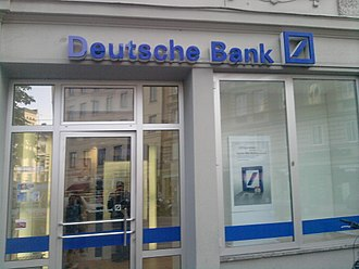 Deutsche Bank - A Deutsche Bank retail branch in Munich.